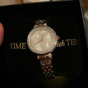 New ted baker rose gold/ silver watch
